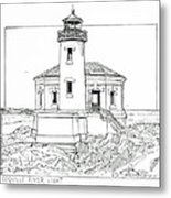 Coquille River Light Metal Print
