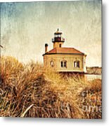 Coquille River Lighthouse - Texture Metal Print