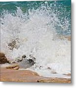 Coquina Waves Metal Print