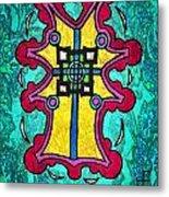 Coral Cross Metal Print