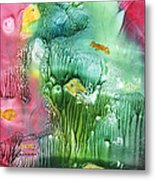 Coral Fishies Metal Print