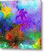 Coral Reef Impression 6 Metal Print