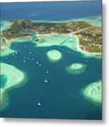 Coral Reef And Musket Cove Island Metal Print