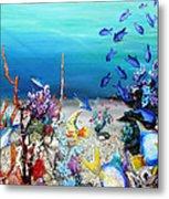 Coral Reef Blues  Metal Print
