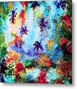 Coral Reef Impression 16 Metal Print