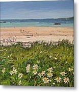 Coral Strand Summers Day Connemara Ireland Metal Print