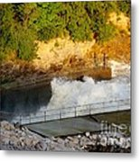 Coralville Dam At Capacity Metal Print