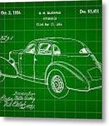Cord Automobile Patent 1934 - Green Metal Print