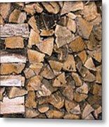 Cord Wood Metal Print