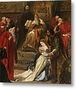 Cordelia In The Court Of King Lear, 1873 Metal Print