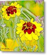 Coreopsis Flowers Metal Print