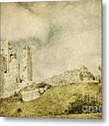 Corfe Castle - Dorset - England - Vintage Effect Metal Print