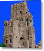 Corfe Castle Ruins Metal Print