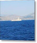 Corfu Channel Lighthouse Metal Print
