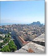 Corfu City Metal Print