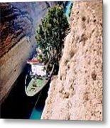 Corinth Canal Greece Metal Print