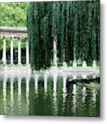 Corinthian Colonnade And Pond Metal Print