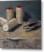 Corks Number 5 Metal Print