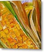 Corn In The Husk Metal Print