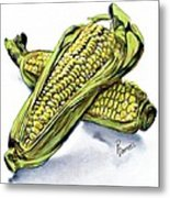 Corn Study Metal Print
