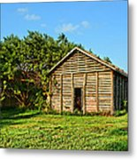 Corncrib In Afternoon Light Metal Print