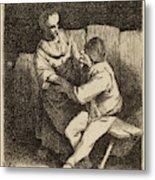 Cornelis Bega Dutch, 1631-1632 - 1664, The Refused Caress Metal Print