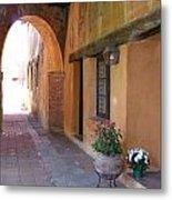 Corner Arch, Mission San Juan Capistrano, California Metal Print