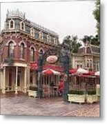 Corner Cafe Main Street Disneyland 02 Metal Print
