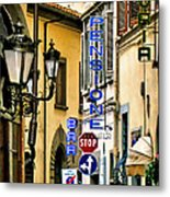 Corner Of Pensione And Bar Metal Print