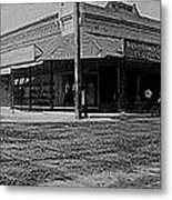 Corner Of Stone And W. Congress Street 180 Degrees Panorama Tucson Arizona C.1905 Metal Print