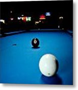 Corner Pocket Metal Print