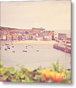 Cornish Harbour Metal Print