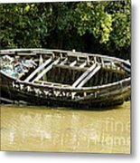 Cornish Shipwreck Metal Print