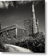 Cornish Tin Mine. Metal Print