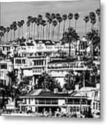 Corona Del Mar California Black And White Picture Metal Print