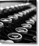 Corona Zephyr Keyboard Metal Print