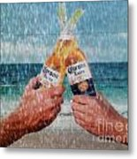 Coronas In The Rain Metal Print