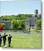 Corps Of Cadets Present Arms Metal Print