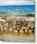 Corrimal Beach Near Towradgi Rook Pool Metal Print