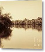 Corroboree Billabong In Sepia Metal Print