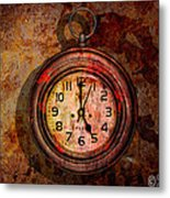 Corroded Time Metal Print