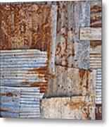 Corrugated Iron Background Metal Print