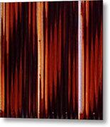 Corrugated Patterns In Orange And Black Metal Print