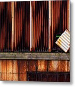 Corrugated Steel Mill Wall Alton Il Metal Print