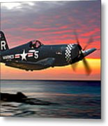 Corsair At Sundown Metal Print