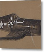 Corsair Triple Ace Metal Print by Wade Meyers