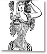 Corset Advertisement  1897 Metal Print