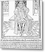 Cortes Letter, 1522 Metal Print