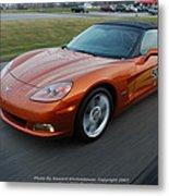 Corvette At Speed . . . . .  Metal Print