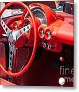 Corvette Dashboard Metal Print